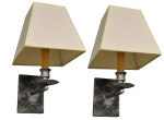 5001 Pewterized Sconce with Square Shades
