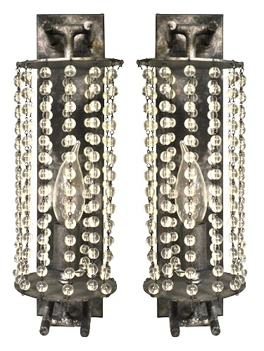 5185 Cb1 Bt S Ba Avery's Crystal Beaded Sconce Art Deco ADG Lighting