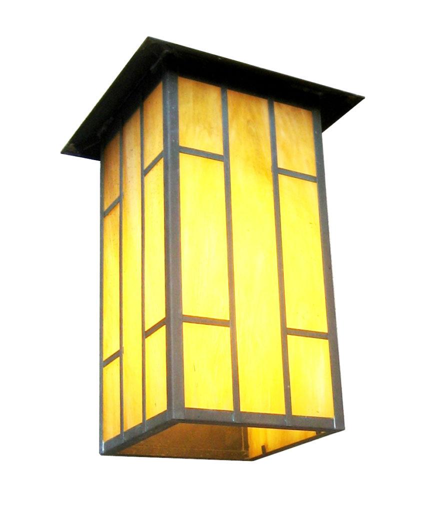 530 Cfl Br W Sh Ambrose Craftsman Lantern Wall A ADG Lighting
