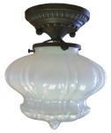 7282 Vaseline Glass Ceiling Flush Light