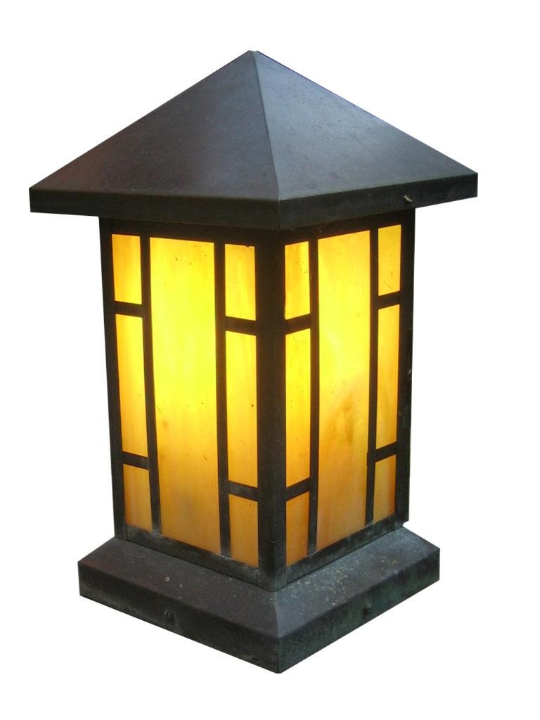 800 Mb1 Br P Sh Craftsman Lantern ADG Lighting Green And Green Architecture