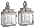 80496 Rustic Iron Lantern Wall Light