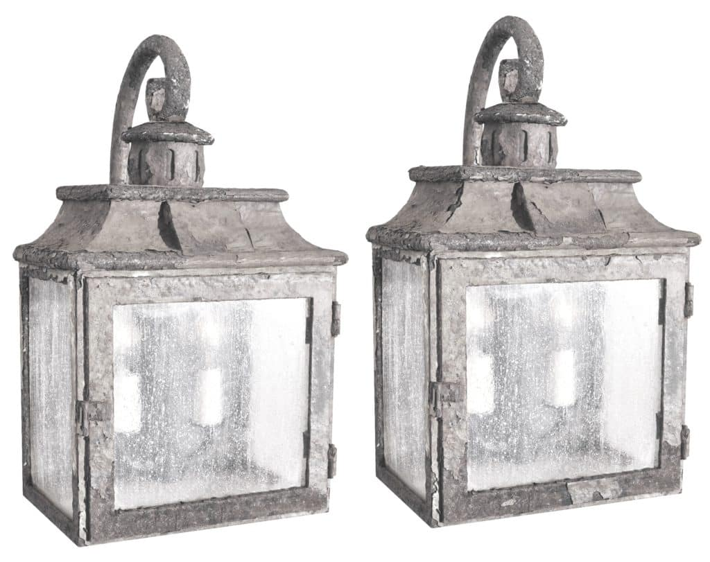 80496 Cb2 Ir W Ba Rustic Iron Lantern Wall Light Old World Lighting ADG Lighting