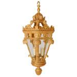 846 Vintage Gilt Wood Lantern