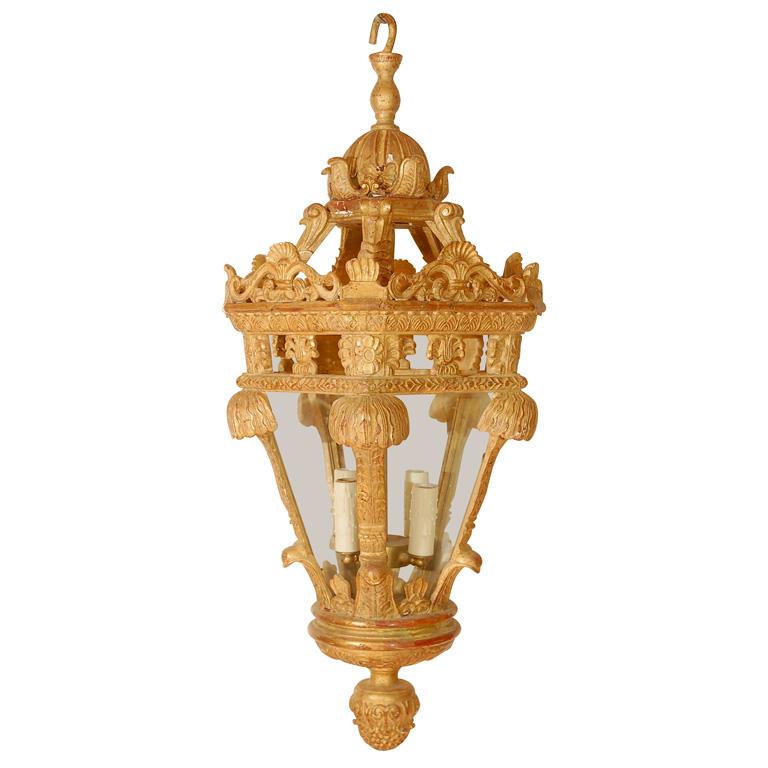 846 Mb1 Res H Ca Reproduction Wood French Regency Lantern ADG Lighting