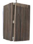 90502 Wood Slat Mid Century Modern Pendant