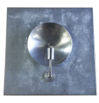 Zinc and Nickel Sconce