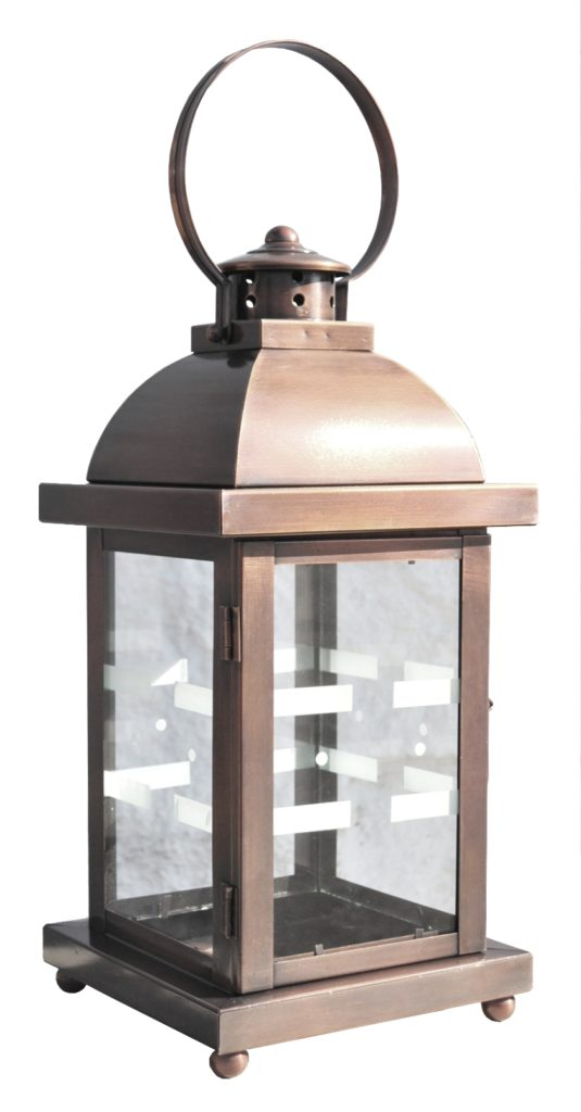 On Ground Lantern 760 Cb1 Br P Sh Rex Lantern With Etched Glass Pattern ADG Lighting