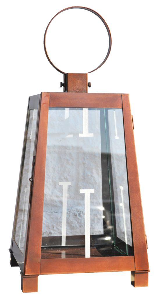 On Ground Lantern 762 Cb1 Br P Sh Rex Lantern With Etched Glass Pattern ADG Lighting