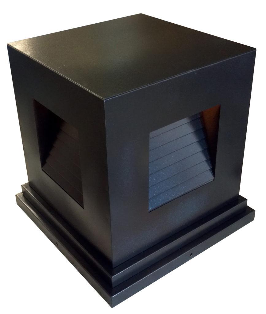 On Ground Lantern 792 Ind Br P Sh Induction Square Pilaster Light 1 ADG Lighting