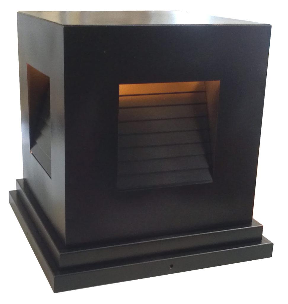 On Ground Lantern 792 Ind Br P Sh Induction Square Pilaster Light 3 ADG Lighting