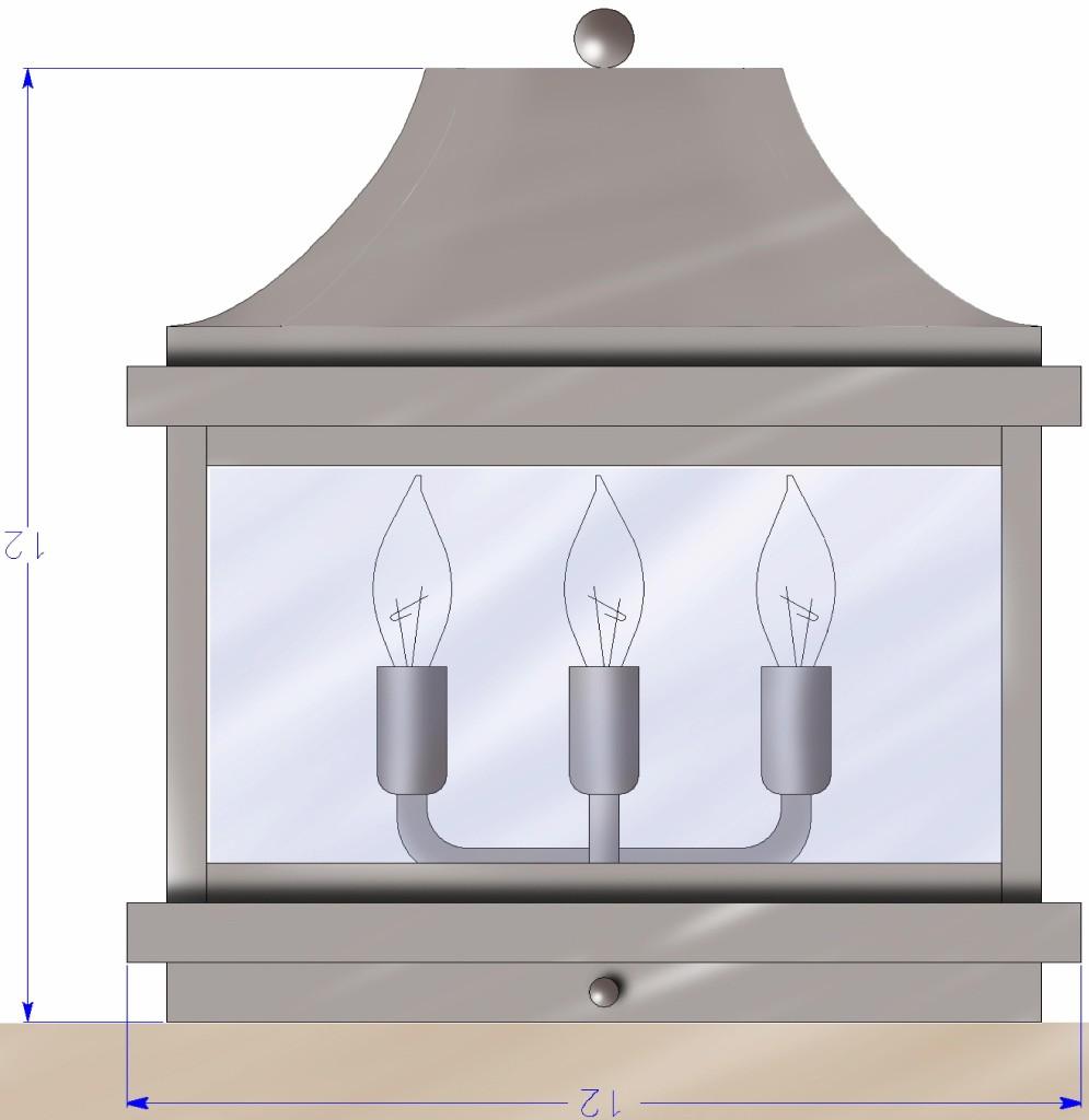 419 Cb4 Br Piu Sh Pilaster Mount Fixture Solid Bottom – ADG Lighting