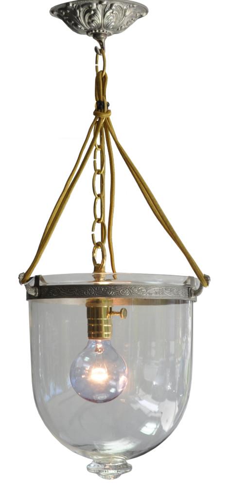 7012 Mb1 St Sh Glass Bell Jar Eclectic  – ADG Lighting