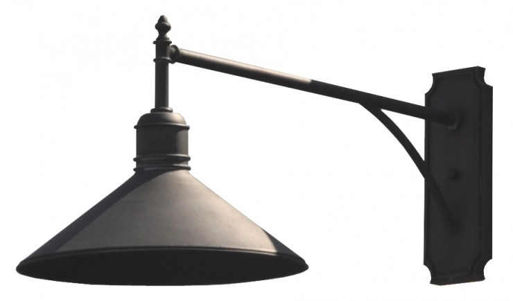 80598 Mb1 Ir W Ba Side View Brass Shade Wall  – ADG Lighting