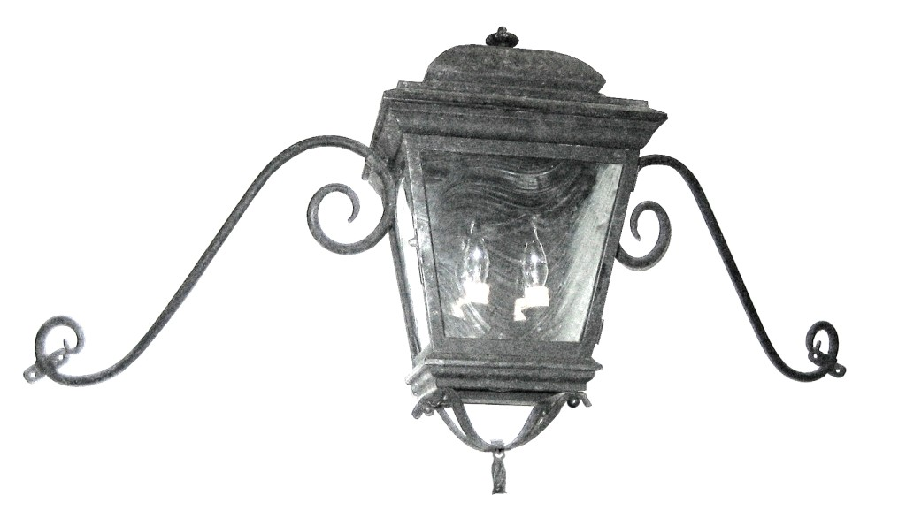 600 Cb2 Br W Sh French Lantern With 2 Lights And Moustache Scroll Arm ADG Lighting 2