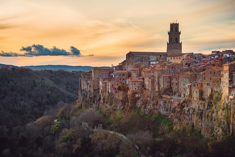 Pitigliano Rises Above the Tuscan Countryside
