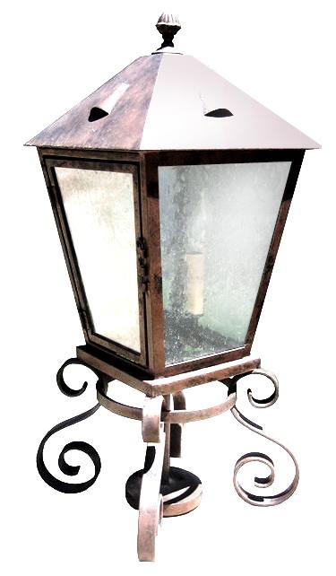 710 CB4 IR P BA Mount Rustico Pilaster Lantern – ADG Lighting