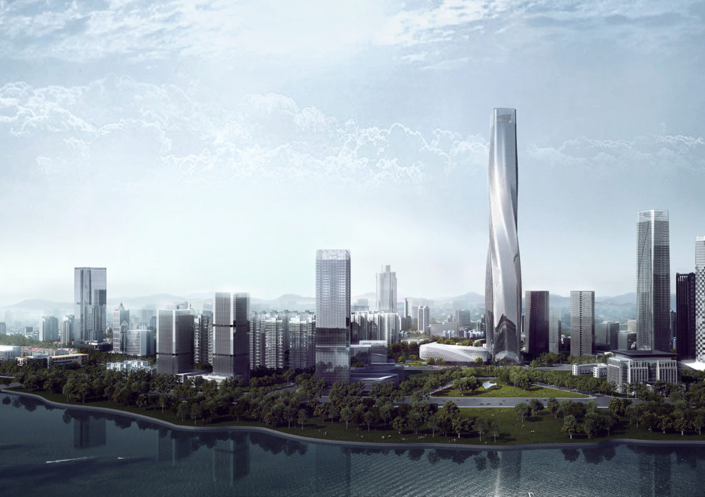 Fuzhou Tower New Centerpiece Feature in China