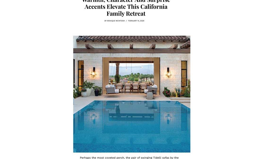 Luxe Magazine Features ADG Lighting Project in La Quinta, California