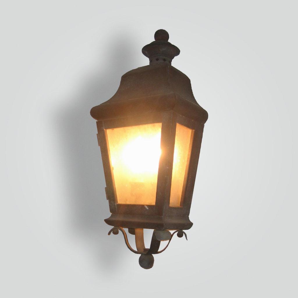 100-cb2-br-w-sh Traditional Lantern – ADG Lighting Collection