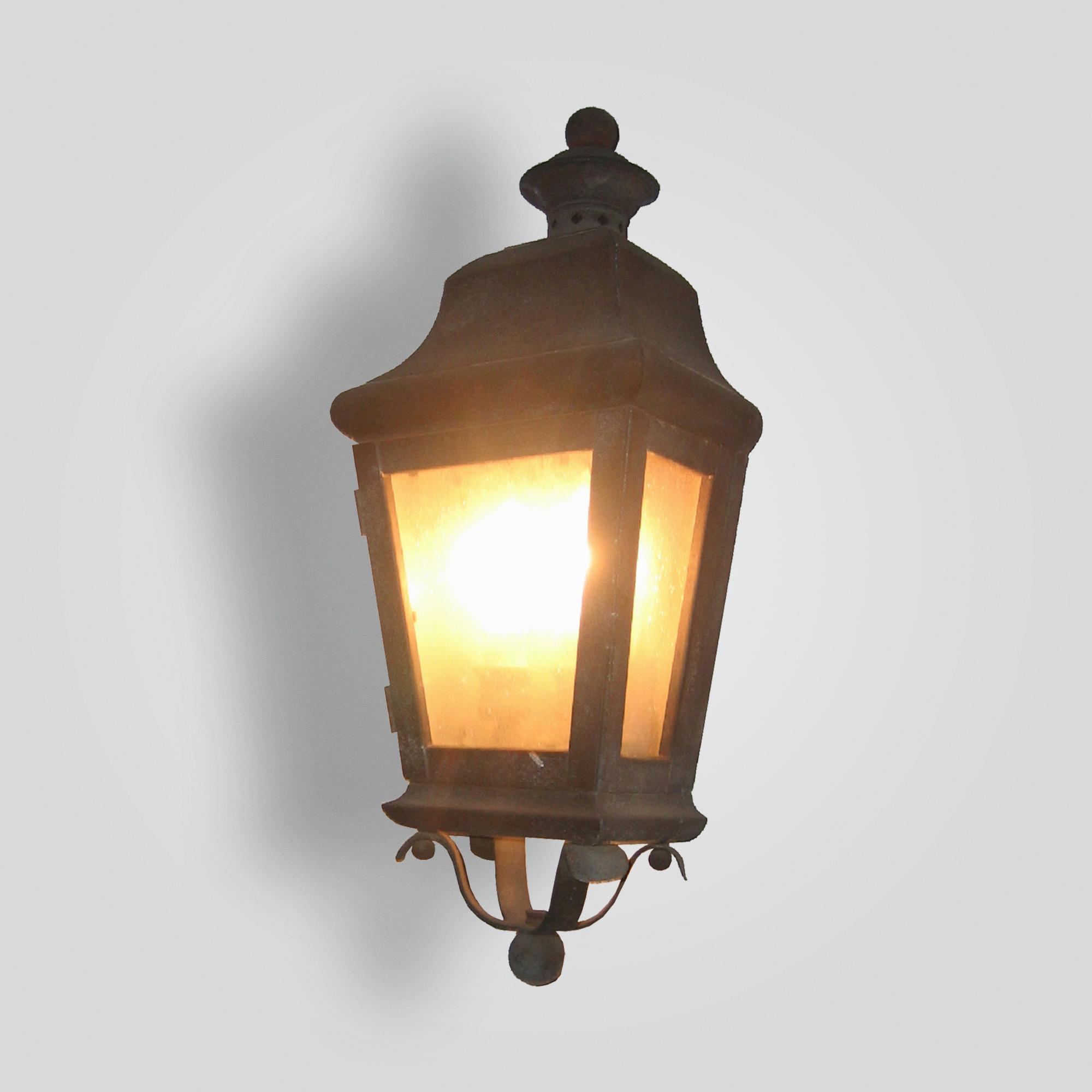 100-cb2-br-w-sh Traditional Lantern – ADG Lighting Collection