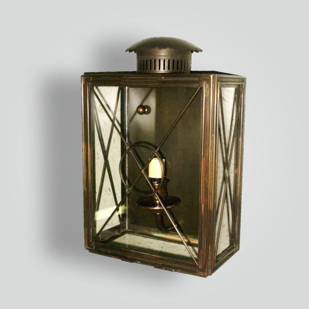 1040-cb1-br-w-sh Flush Lantern – ADG Lighting Collection
