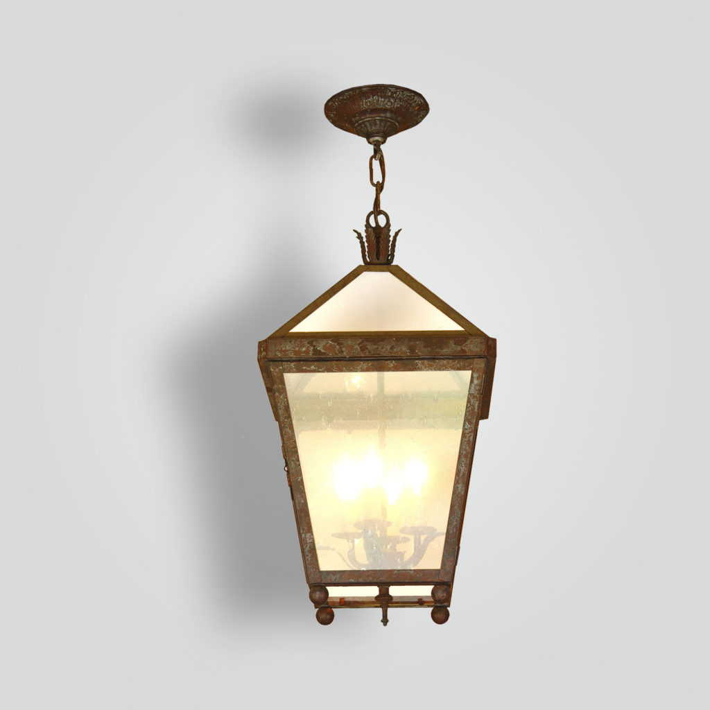 1077-cb4-br-h-sh-glass-top-lantern-transitional-light-fixture – ADG Lighting Collection