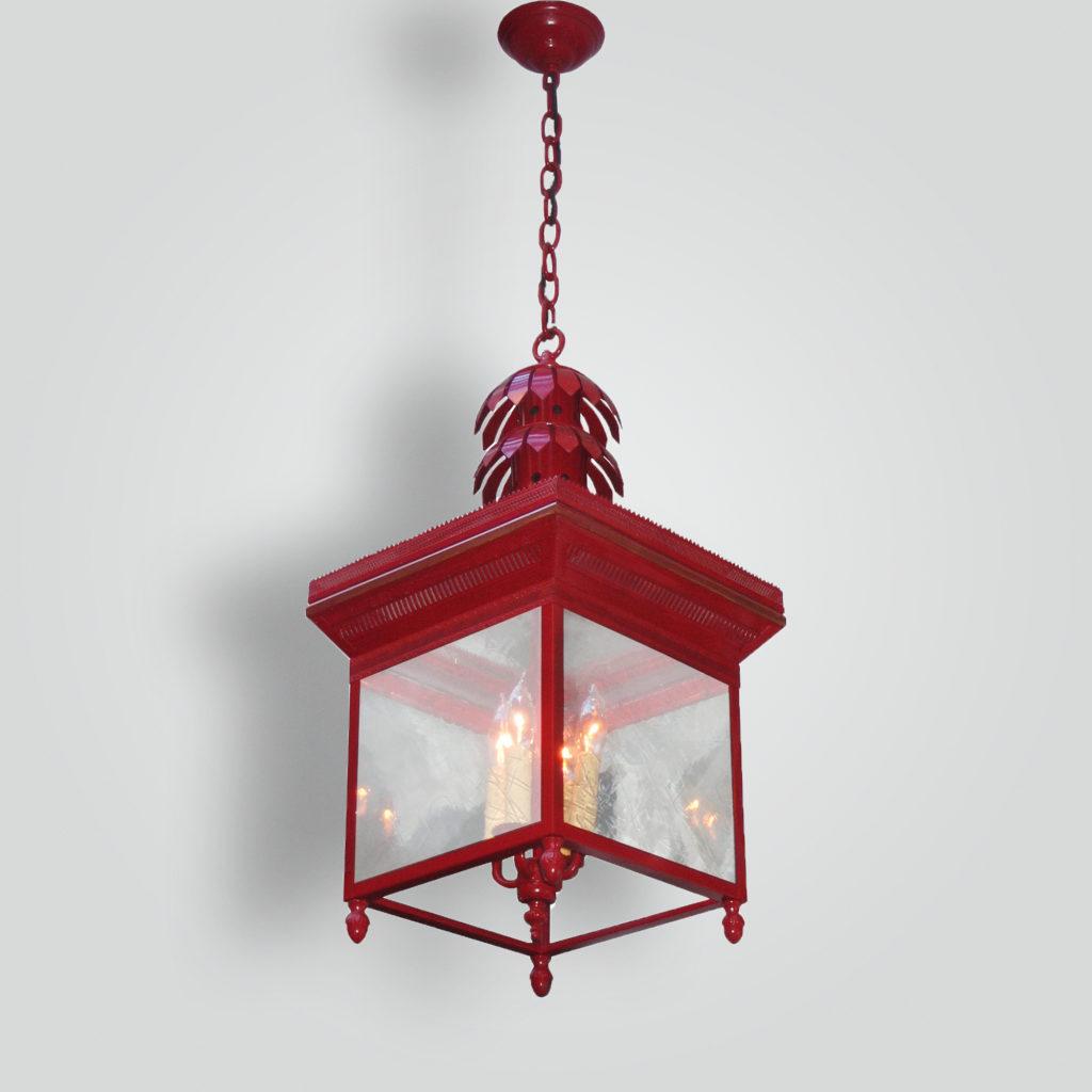 1086-cb4-jc-h-sh English Lantern Red Painted – ADG Lighting Collection