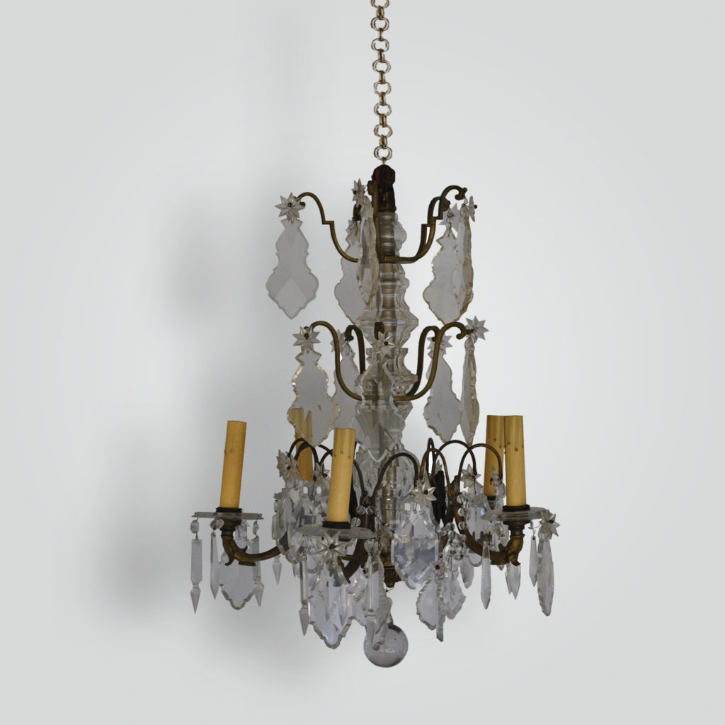 1280-cb8-br-h-ca-french-pendalogue-chandelier – ADG Lighting Collection