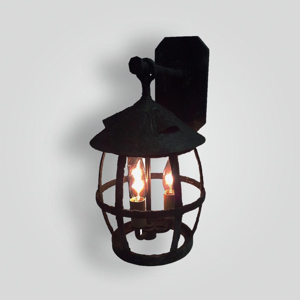 177-cb3-st-w-sh Giacometti Finish On Iron Shipyard Lantern – ADG Lighting Collection