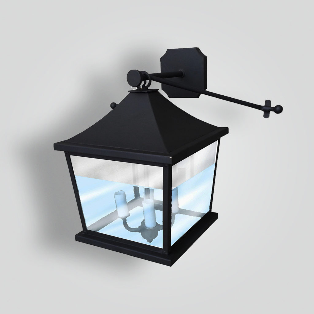 186-mb1-br-w-sh Holte Wall Lantern – ADG Lighting Collection
