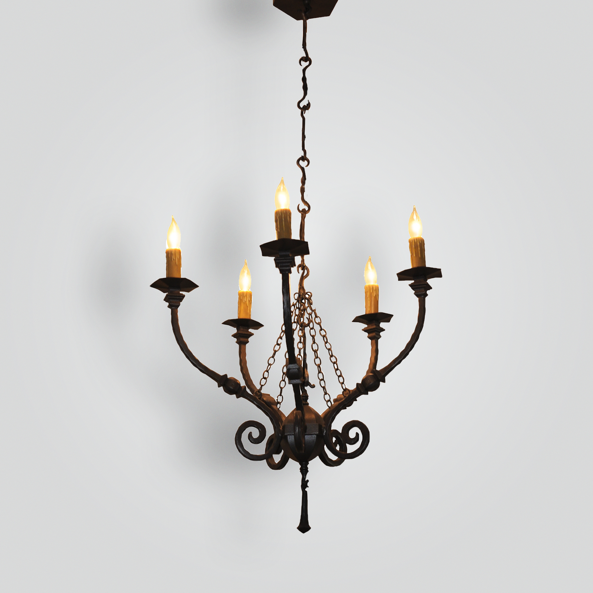 20126-mb5-ir-pen-ba-5-lite-wrought-iron-chandelier – ADG Lighting Collection