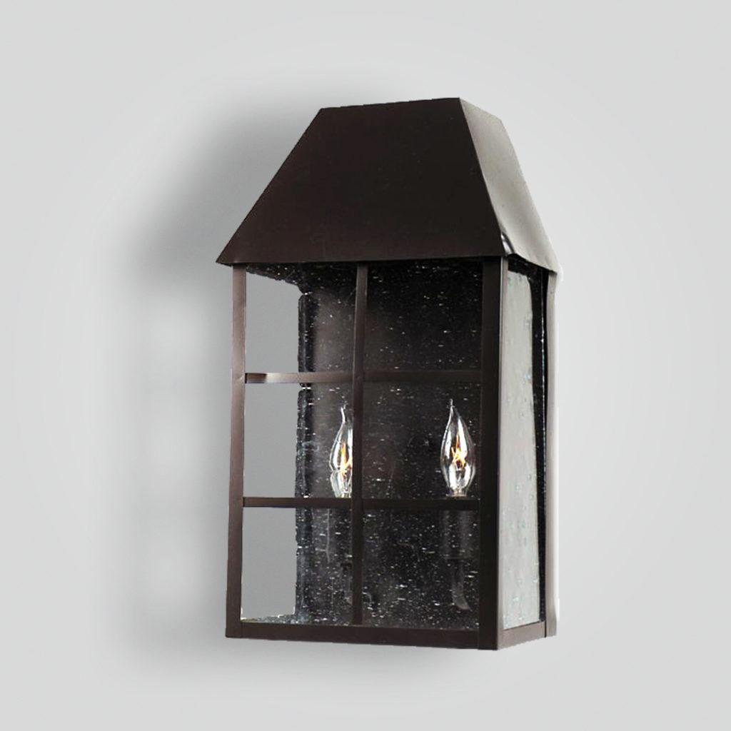 214-cb2-br-w-sh Bar Panel Over Glass Wall Lantern – ADG Lighting Collection