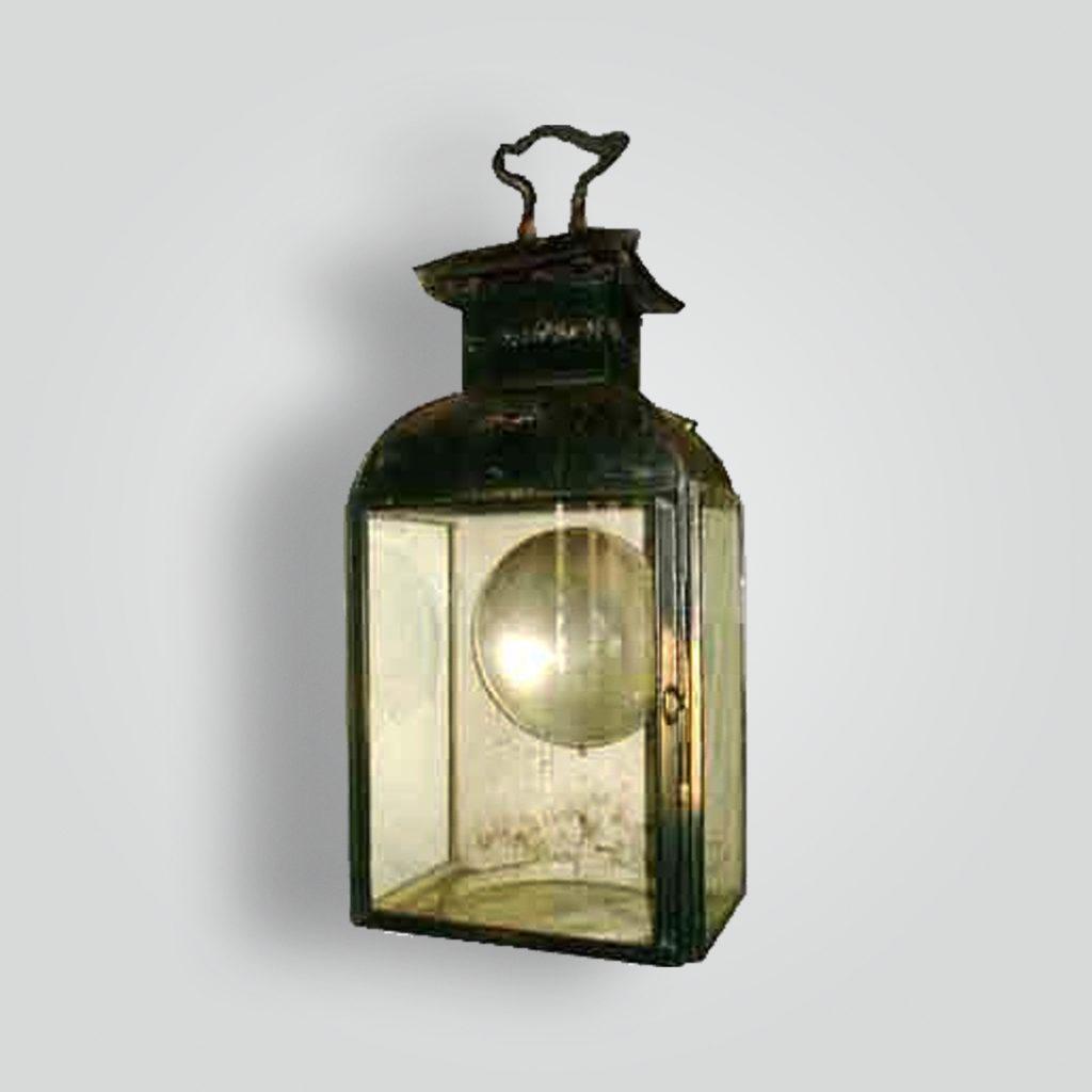 2160-mb1-br-s-sh Antiqued Lantern Sconce – ADG Lighting Collection