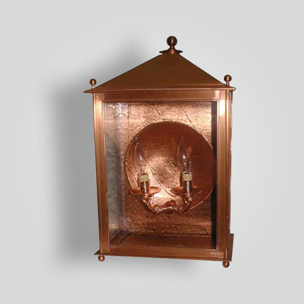 240-cb2-ca-w-sh Copper Lantern – ADG Lighting Collection