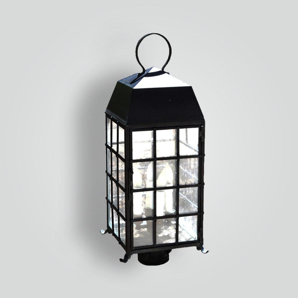 465-cb4-br-pi-ba Arrowhead Square Lantern – ADG Lighting Collection