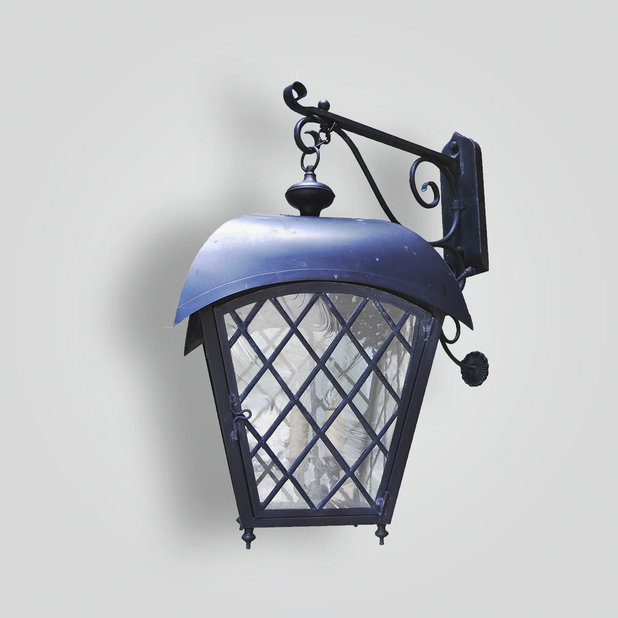 466-cb4-br-w-shba Leaded Glass Arrowhead Wall Lantern – ADG Lighting Collection