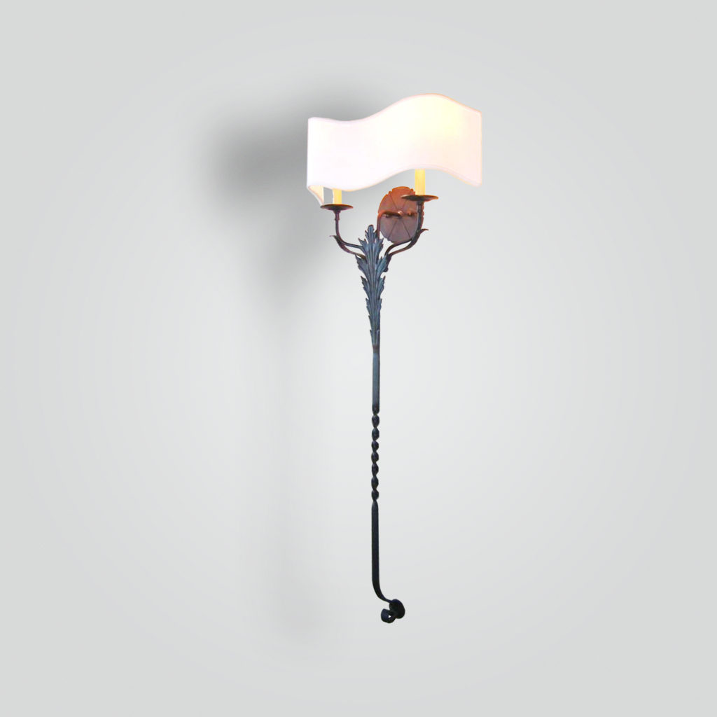 5002-cb2-br-sc-ba-twisted-bar-wall-sconce-with-wavy-linen-shade-cr – ADG Lighting Collection