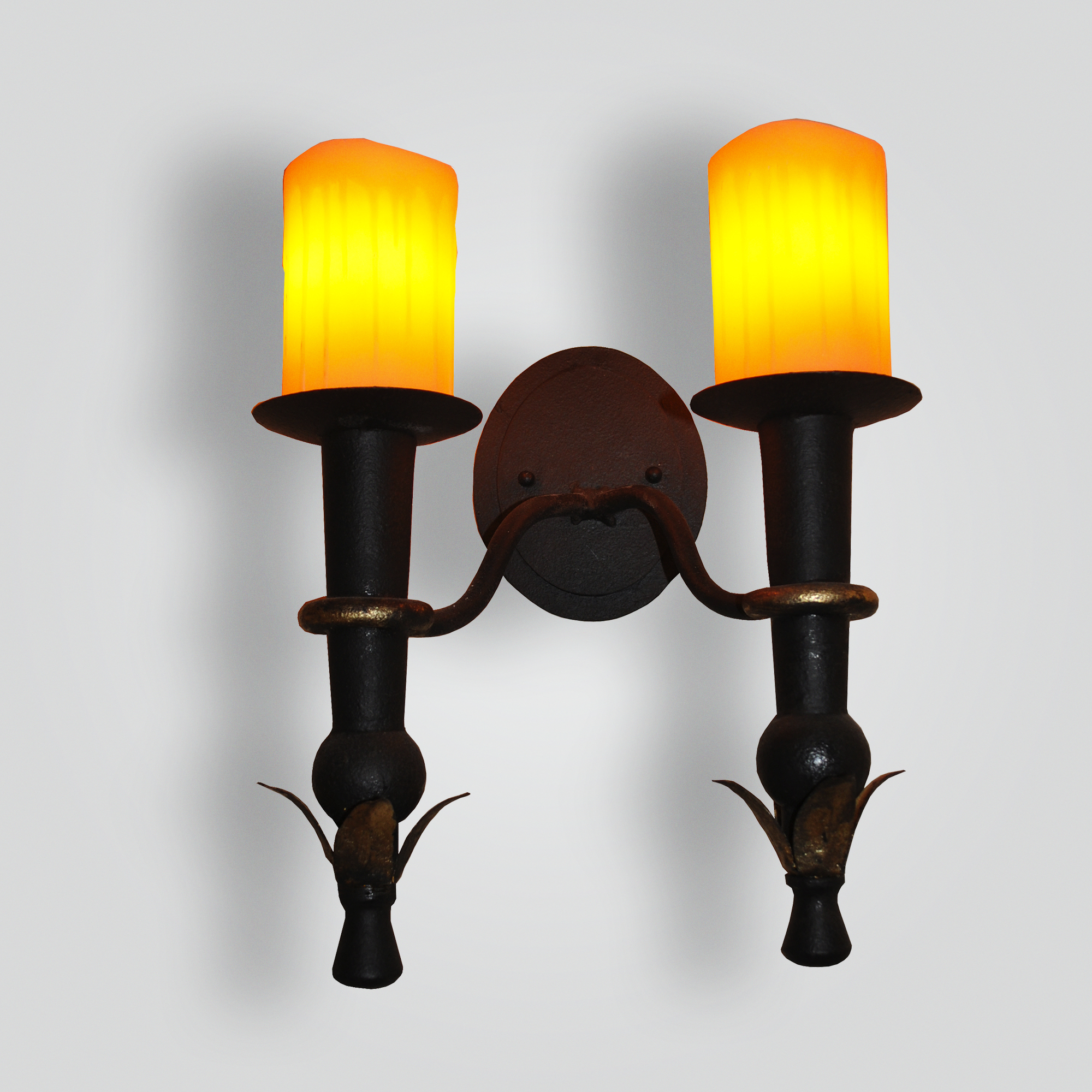 5044-cb2-ir-w-ba-rose-double-torch-sconce – ADG Lighting Collection