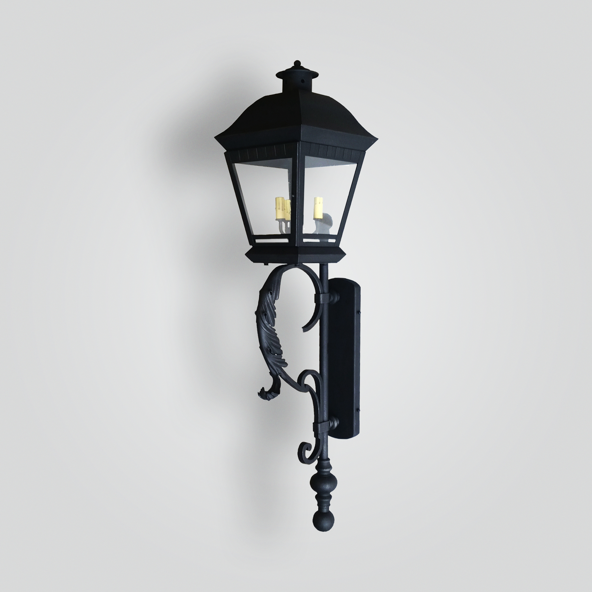 518-cb4-ir-w Bash Wang Wall Lantern On Scroll Arm – ADG Lighting Collection