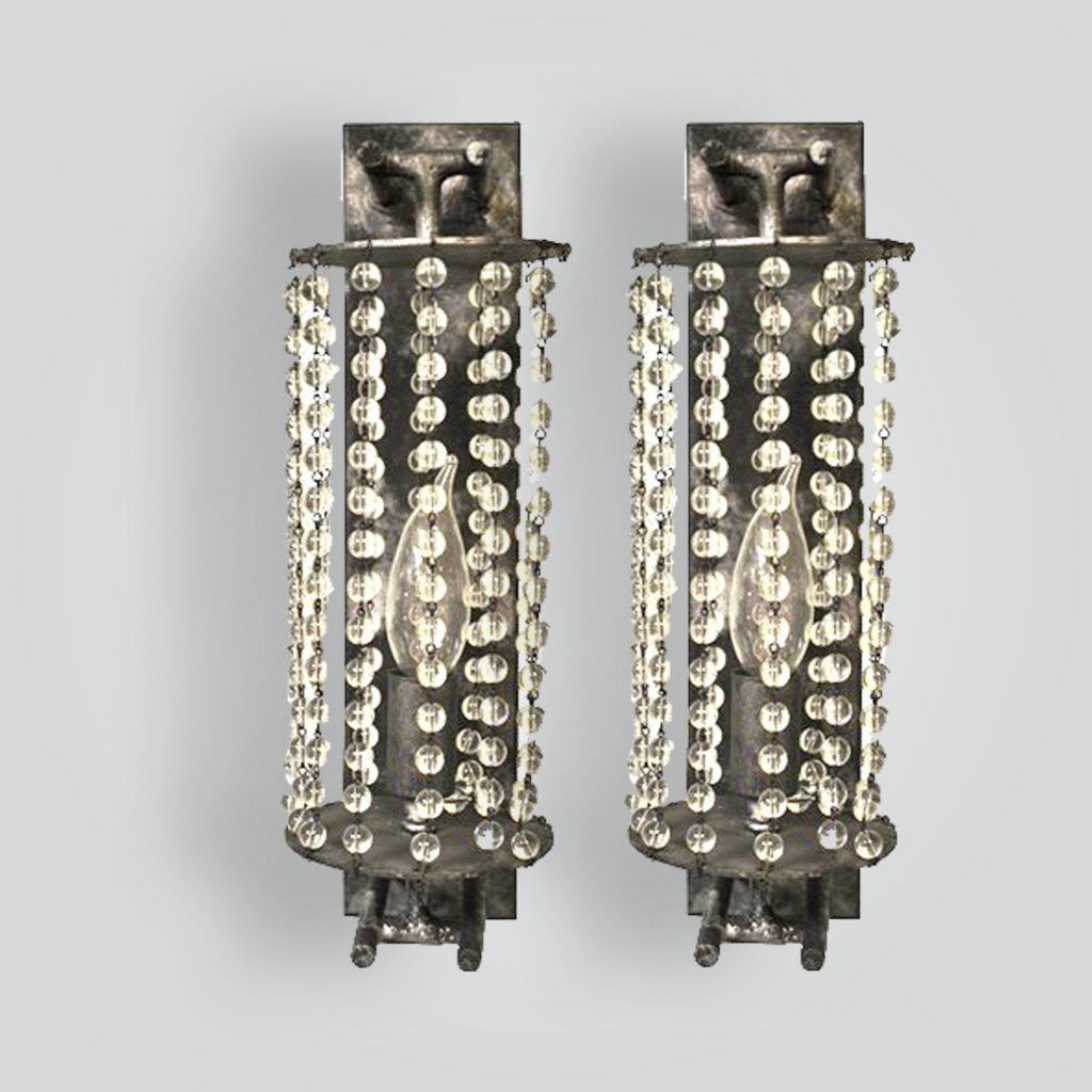5185-cb1-bt-s-ba Avery's Crystal Beaded Sconce – ADG Lighting Collection
