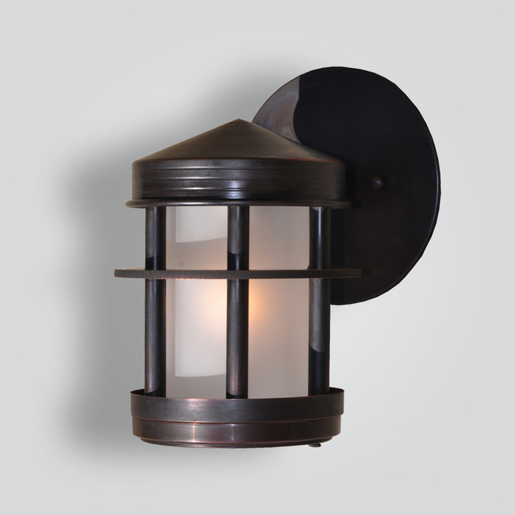 5186-led-br-w-ba Copper Bronze Wall Light Contemporary – ADG Lighting Collection