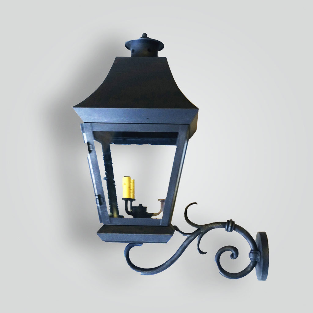 519-cb3-jcir-w Bash Wang Lantern On S Arm – ADG Lighting Collection