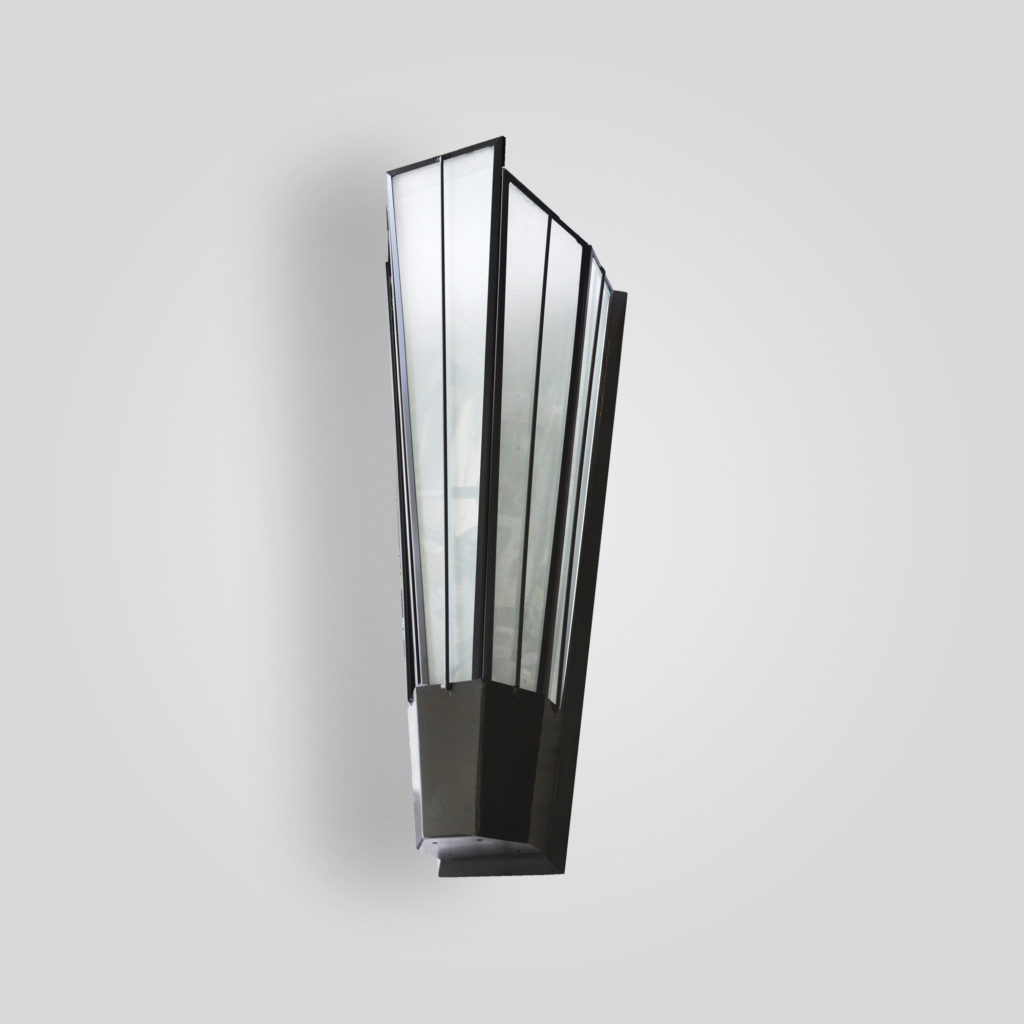 5205-55-mb1-br-w-sh Art Deco Wall Sconce – ADG Lighting Collection