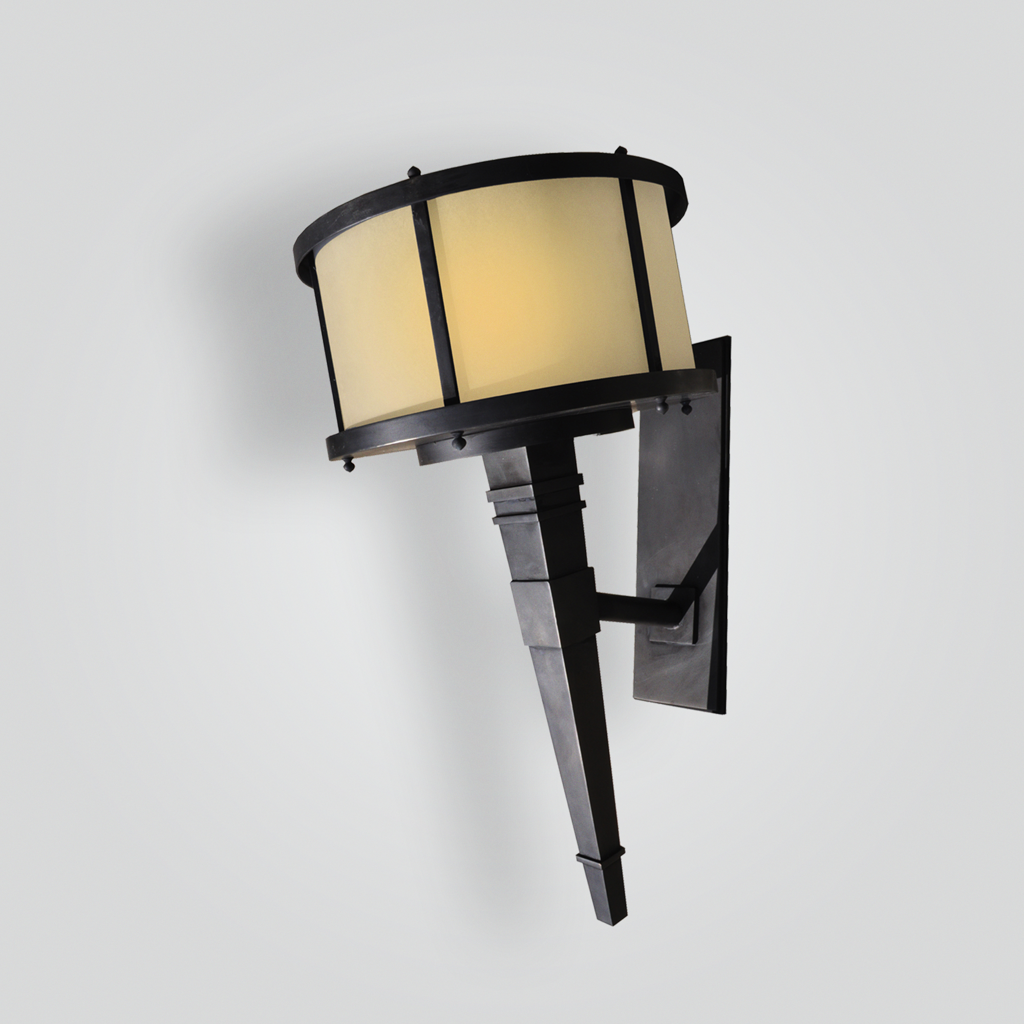 5208-led-ss-w-ba Stainless Steel Brass Plated Torch Light Transitional – ADG Lighting Collection