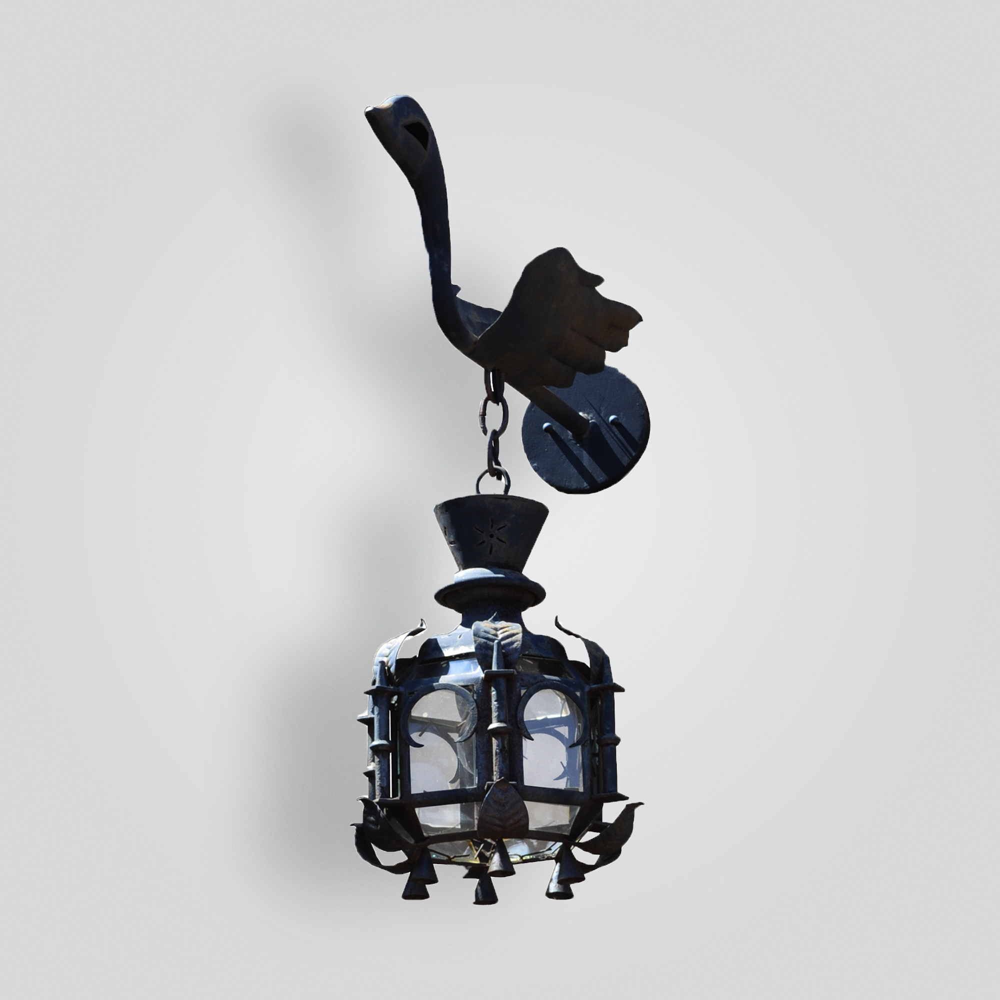5214-cb2-ir-w-lantern-on-swan-arm – ADG Lighting Collection
