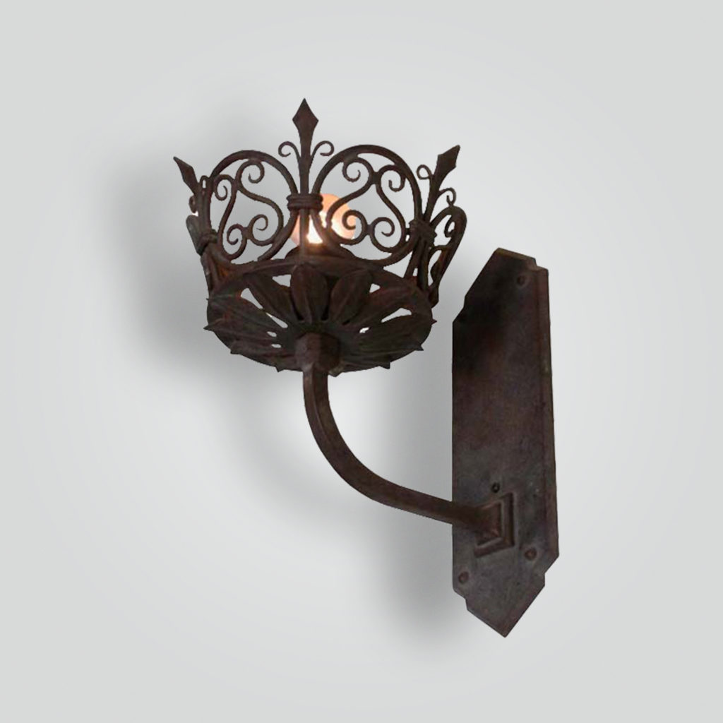 5223-mb1-br-s-fr Forged-Brass Sconce Historic Reproduction – ADG Lighting Collection