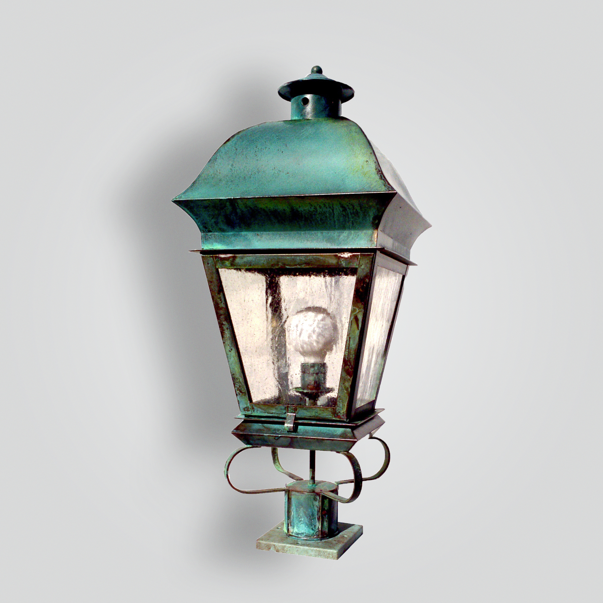 523-mb1-br-p-sh French Verde Pilaster Light – ADG Lighting Collection
