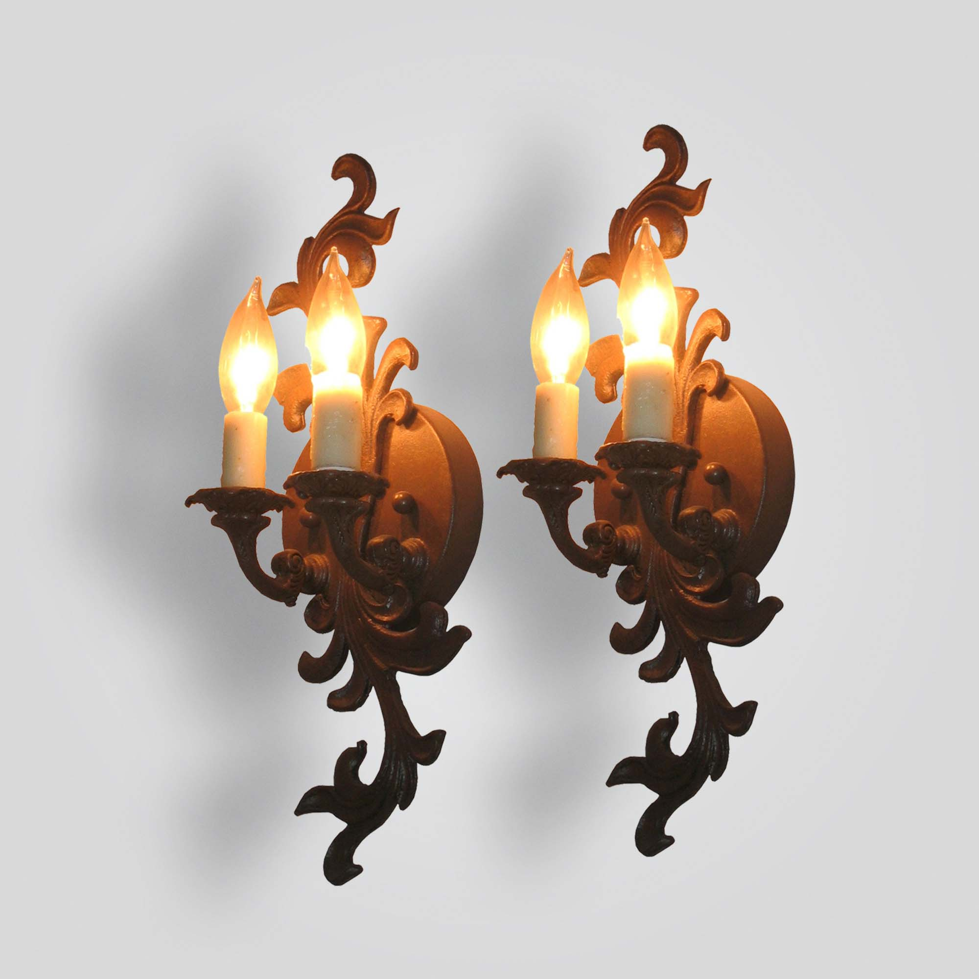 5262-cb2-ir-s-fg-forged-leaf-sconce – ADG Lighting Collection