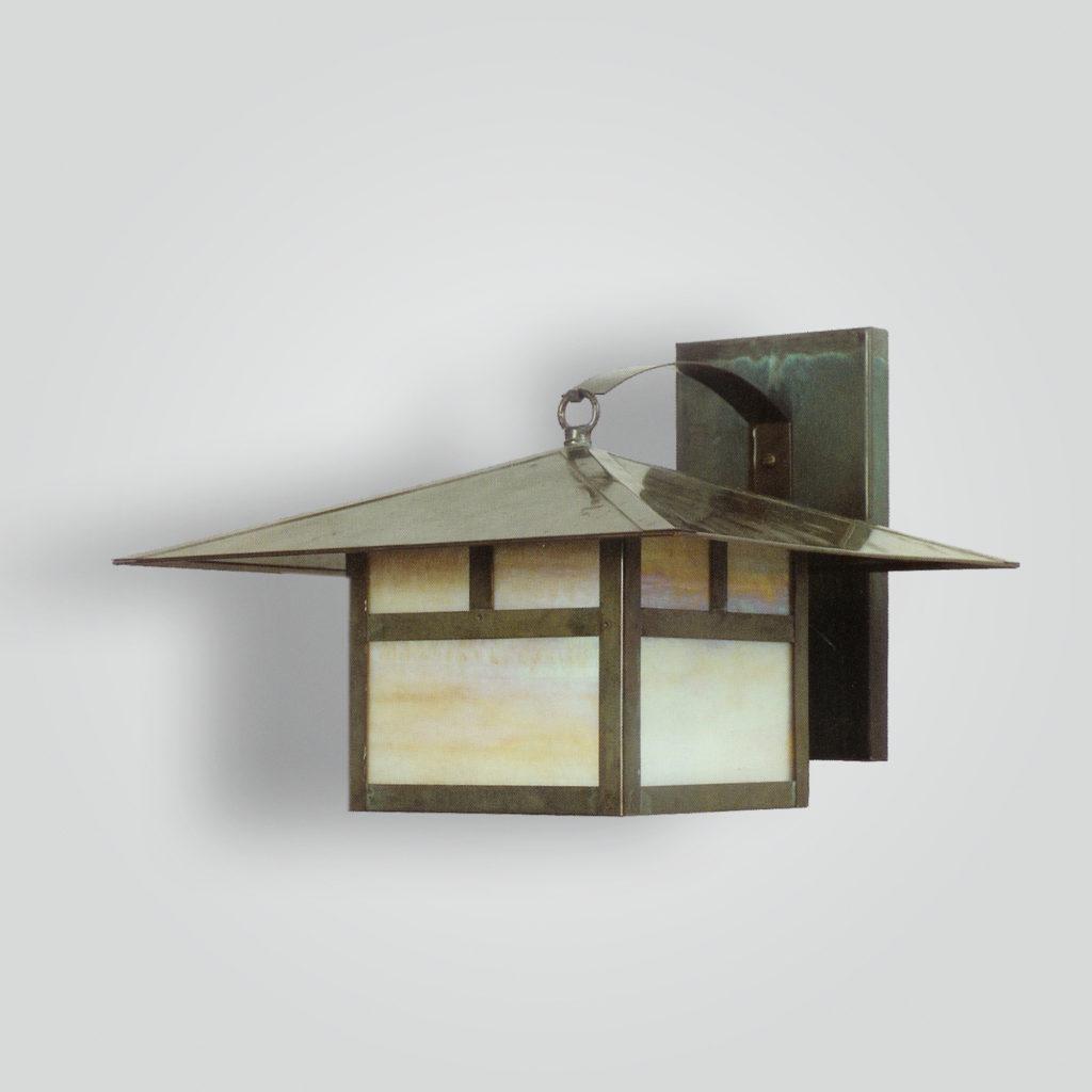 530-mb1-br-w-sh Craftsman Lantern Wall Mount – ADG Lighting Collection